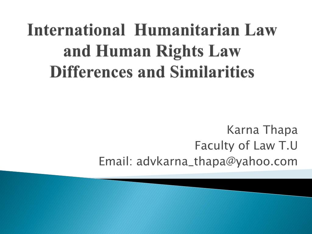 difference between ihl and ihrl pdf