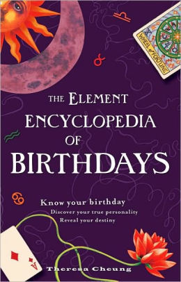 the element encyclopedia of birthdays by theresa cheung pdf
