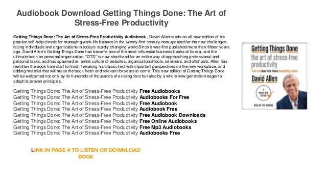getting things done pdf free download